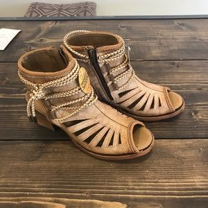 Corral Bone Tall Top Sandal